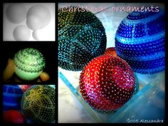 Sequins christmas ornaments
