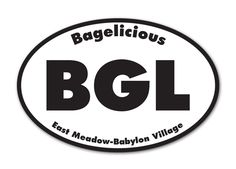 Bagelicious oval magnet
