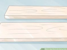 How to Age Wood with Baking Soda. If you want to give new wood a distressed or aged look, you don't have to leave it outside for years to weather naturally. One of the simplest ways to age wood quickly is to apply a paste of baking soda. Baking Soda For Hair, Pallet Beds, Rustic Wall Art, Aging Wood, Recycled Pallets, Red Oak, Woodworking Tips, Barn Wood, Helpful Hints