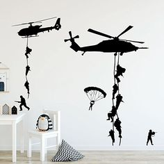 Helicopter Army Soldier Wall Stickers Vinyl Art Decals Teens Boys Men Military Fans Bedroom Home Decoration Wall Stickers Vintage, Wall Stickers Family, Bathroom Wall Stickers, Removable Wall Stickers, Wall Stickers Murals, Wall Decals, Family Wall, Art Wall Kids, Home Decor Wall Art