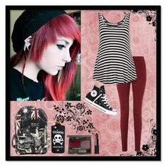 """""""Bite your face to spite your nose. 17 and a half years old. Worrying about my brother finding out. What's the fun in doing what you're told?"""" by carissa-chaos ❤ liked on Polyvore featuring Converse, Valfré, DuWop, NARS Cosmetics, Miss Selfridge and Dorothy Perkins"""
