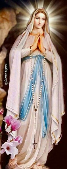 Mother Mary Images, Images Of Mary, Blessed Mother Mary, Divine Mother, Religious Pictures, Jesus Pictures, Catholic Religion, Catholic Art, Santa Bernadette