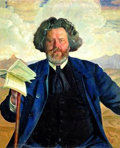 Kustodiyev Boris - Portrait of MA Voloshin. 900 Classic russian paintings