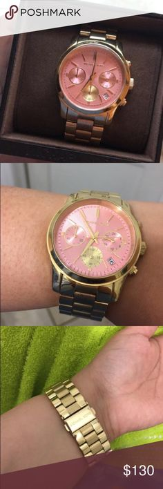 Michael Kors women's watch Great condition! Face has no cracks or scratches. Comes with MK box it was bought in. Also has the extra links I took out due to my wrist being small. Asking $130 OBO Michael Kors Jewelry