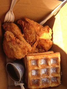 chicken and waffles. Take me here, nowwww