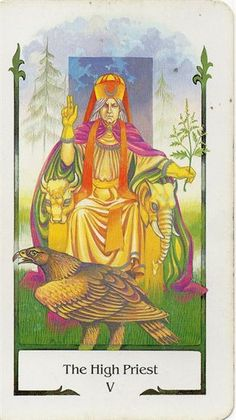 Tarot Comparisons: Tarot of the Old Path & Thoth Deck Tarot: The High Priest .
