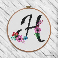 Black floral alphabet M - cross stitch pattern. If you want another letter or symbol, tell me about it. Floss: DMC Size of design in crosses: 85 x I recommend using canvas color - White. Canvas: Aida Design Area: x inch or x сm. Monogram Cross Stitch, Small Cross Stitch, Cross Stitch Art, Cross Stitch Alphabet, Modern Cross Stitch, Cross Stitch Designs, Cross Stitching, Cross Stitch Embroidery, Embroidery Patterns