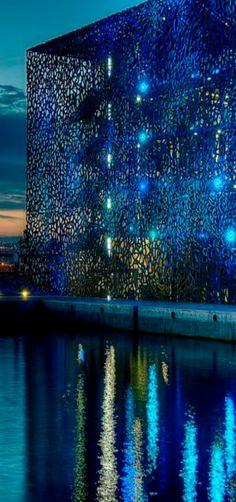 Dentelle bleue   Blue Lace   Mucem Museum, Marseille, France   by Cyril