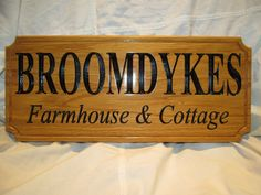 "170x400x18mm  6 3/4x16x3/4"" Oak Wood House Shed Home Sign / Plaque. Customised with your font and text. By SignaRoo"