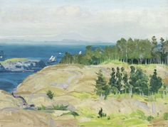 """Green Point,"" George Wesley Bellows, 1913, Oil on panel, 15 x 19 1/2"", Private collection."