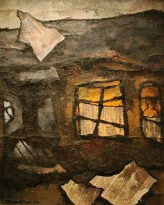 ·    «Барак с газетами»  1969 Оскар Рабин