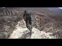Inches from death: downhill biker tests fate biking mountain in Utah - YouTube
