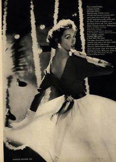 Glamour Editorial Dressing for Holiday Parties, December 1956 Shot #2