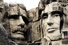 """""""Between a Rock & a Hard Place""""  Mt. Rushmore, USA  © Cinthia Gibbens-Stimson, All Rights Reserved."""