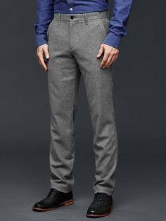 GAP Men Wool Dress Pants Work Slim Fit Mini Plaid Gray 718075 34*34 #GAP #Work