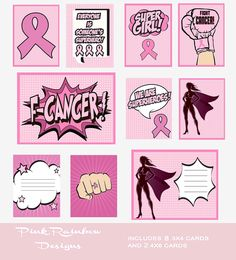 Breast Cancer Awareness Superhero Pocket Page Project Life Scrapbook Card Collection | Survivor | Fight | Pink Ribbon | Comic Book | Cure by PinkRainbowDesigns on Etsy https://www.etsy.com/listing/243802932/breast-cancer-awareness-superhero-pocket