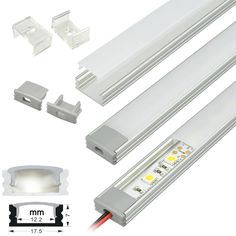 Aluminum channels protect and provide light diffusion for our 10-12mm LED strip lights
