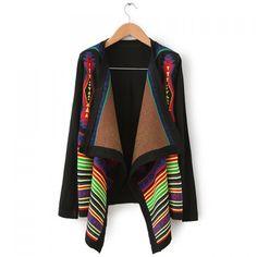 Long Sleeves Multicolor Stripes Pattern Asymmetrical Hem Laconic Style Ladylike Women's Knitwear, BLACK, L in Sweatshirts & Hoodies | DressLily.com
