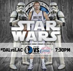 Los protagonistas de Star Wars, estrellas invitadas de los Dallas Mavericks