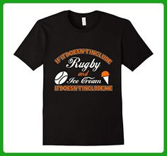 Mens Doesn't Involve Rugby & Ice Cream Sports Fan T-Shirt Small Black - Sports shirts (*Amazon Partner-Link)