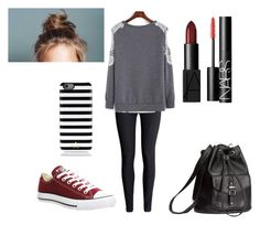 """""""Untitled #63"""" by jkal-shirazi on Polyvore featuring H&M, Converse, Kate Spade and NARS Cosmetics"""