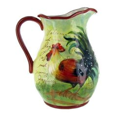 pretty rooster pitcher