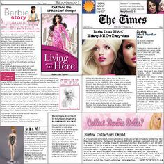 Free Printable Barbie Minis - shoe boxes, passport, airline ticket, money, magazines, a record and a bible! Plus the newspaper...