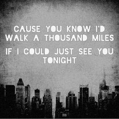a thousand miles song text