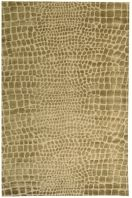 The graphic patterning of reptile skins is abstracted and softened in the geometric dot motif of Amazon. Tibetan weavers hand-knot a special blend of silk and wool, creating a subtle design cut-and-loop pile for this sophisticated area rug.