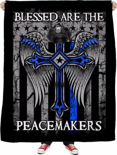 Blessed Are The Peacemakers Fleece Blanket Sexy Home, Police Life, All Hero, Photo Quality, Life Inspiration, Home Accessories, Blessed, Plush, Puppies