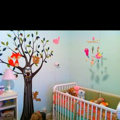 My baby girl's enchanted forest nursery with her forest friends :)