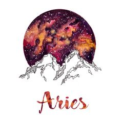 Aires Zodiac Watercolor Print by PickledCherryblossom on Etsy