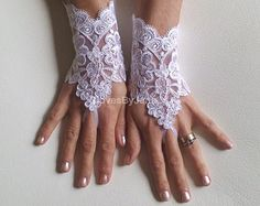 cappuccino Wedding gloves free ship happiness rose by GlovesByJana