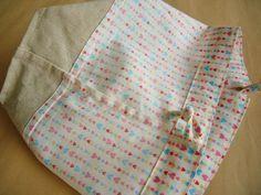 裏をつけずも、裏まで美しく仕上げる巾着袋の作り方 - twins*mamaのハンドメイド生活
