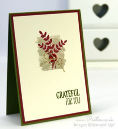 Stampin' Up! Demonstrator Pootles - For All Things with Mossy Meadow, Cherry Cobbler, Very Vanilla...