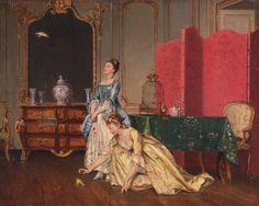 Garay, Marie de (b,1861)- Woman w Birds Loose in Room