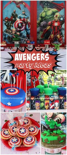 The superheroes all come out for this Avengers party! See more party ideas at CatchMyParty.com!