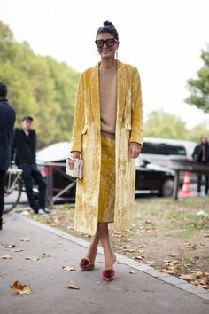 Giovanna Battaglia Engelbert is seen attending Cline during Paris Fashion Week wearing Cline on October 1 2017 in Paris France