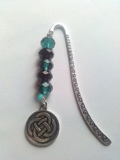 Black and green beaded bookmark with Celtic knot by KaisCards, £6.00