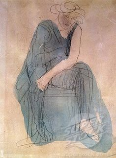 Sitting woman by Auguste Rodin, England, London, Christie's Images, c 1906 Family Drawing, Family Painting, Life Drawing, Auguste Rodin, Figure Painting, Figure Drawing, Rodin Drawing, Rodin The Thinker, Family Sculpture