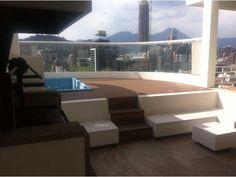 penthouse de lujo providencia totalmente amoblado de primer nivel living comedor con terraza y