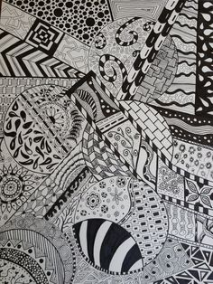 My first zentangle inspired drawing! Zentangle Drawings, Doodle Drawings, Doodle Art, Zentangles, 3d Art Drawing, Mandala Drawing, Doodle Patterns, Zentangle Patterns, Mandala Pattern