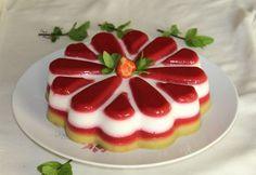 Bavarois  fraises rhubarbe aux yaourts