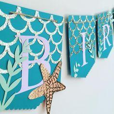 Mermaid banner birthday party