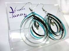 Earrings movie film - Orecchini realizzati con pellicola cinematografica