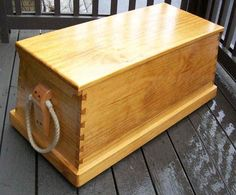 """Plans for - monterey pine sea chest Sea chest dimensions: 39"""" long by 19"""" wide by 16-5/8"""" high."""