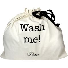 Keep laundry organized on-the-go with this essential bag, featuring a charming typographic motif.  Product: Organizing bag