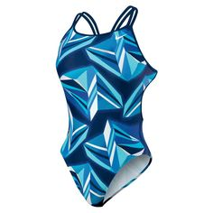 NIKE SWIM Jagged Geo Spider Back Tank TESS0016