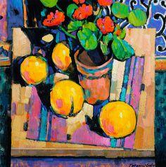 Terence Clarke - Grapefruit and Geraniums