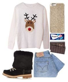 """Untitled #602"" by xdsummerhotdogz ❤ liked on Polyvore featuring Montelliana, Levi's and Michael Kors"